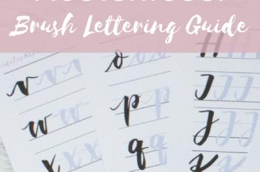 Kostenloser Brush Lettering Guide