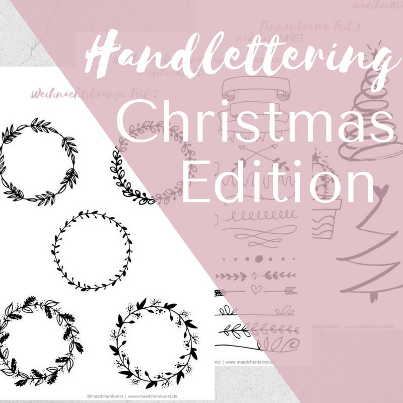 Kostenloser Christmas Lettering Guide Mädchenkunst