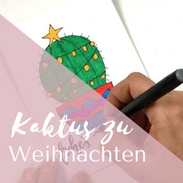 Ein Kaktus zu Weihnachten