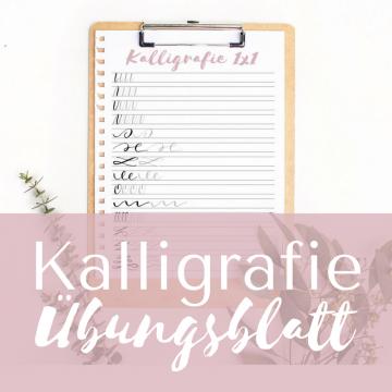 Kalligrafie Übungsblatt