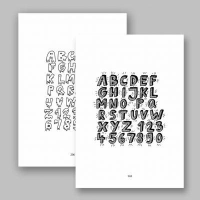 Handlettering eBook – 150 Schriftarten