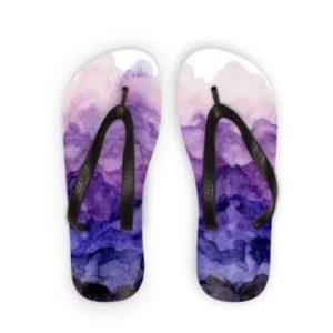 """Flip Flops """"Lila Aquarell"""""""