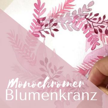 Monochromer Blumenkranz