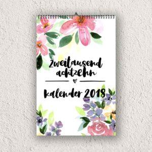 "Wandkalender A4 ""Floral"""