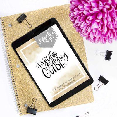 """Digitaler Lettering Guide """"Brush Style"""""""