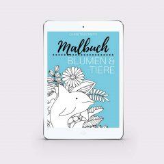eBook Malbuch – Blumen & Tiere