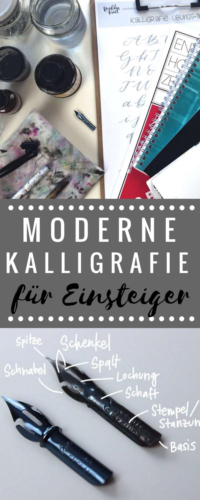 Moderne Kalligrafie für Anfänger ⋆ Mädchenkunst