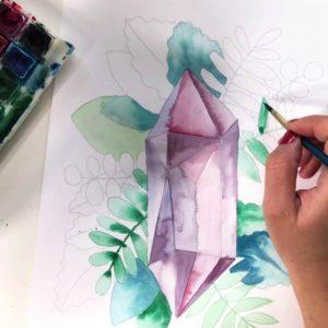 Watercolor Malbuch