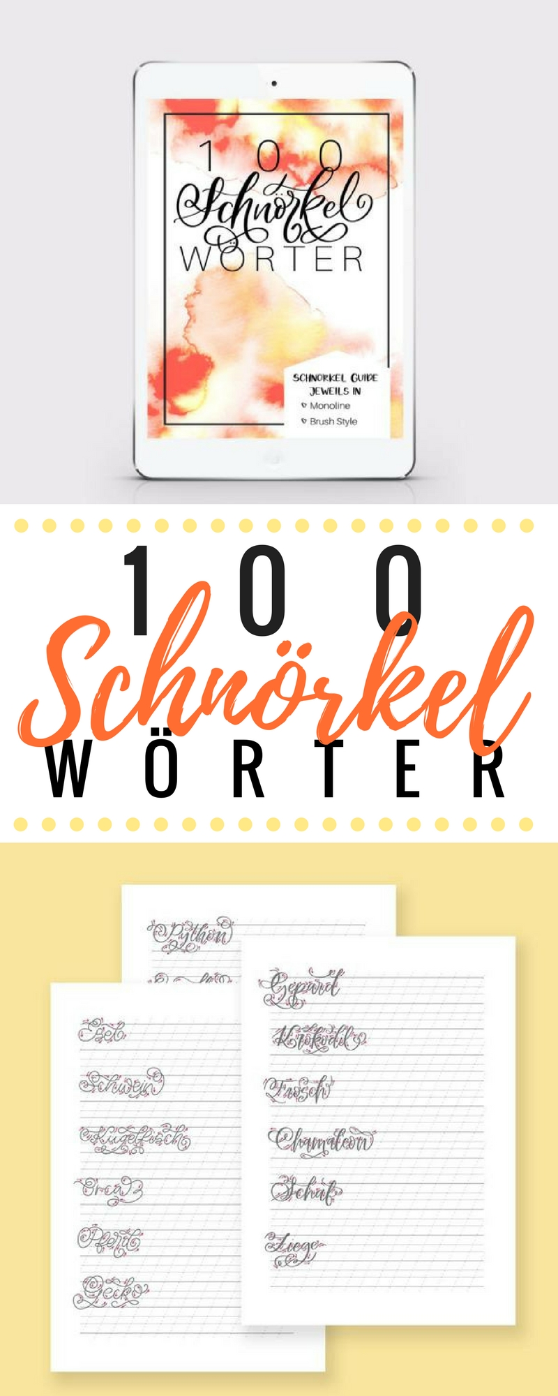 100 Schnörkel Wörter