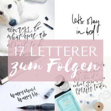 17 Letterer, denen du unbedingt folgen solltest