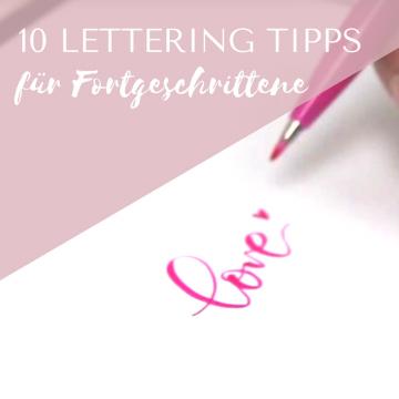 10 Brush Lettering Tipps für Fortgeschrittene
