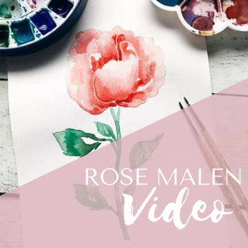 Rose in Aquarell