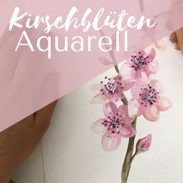 Kirschblüten Aquarell
