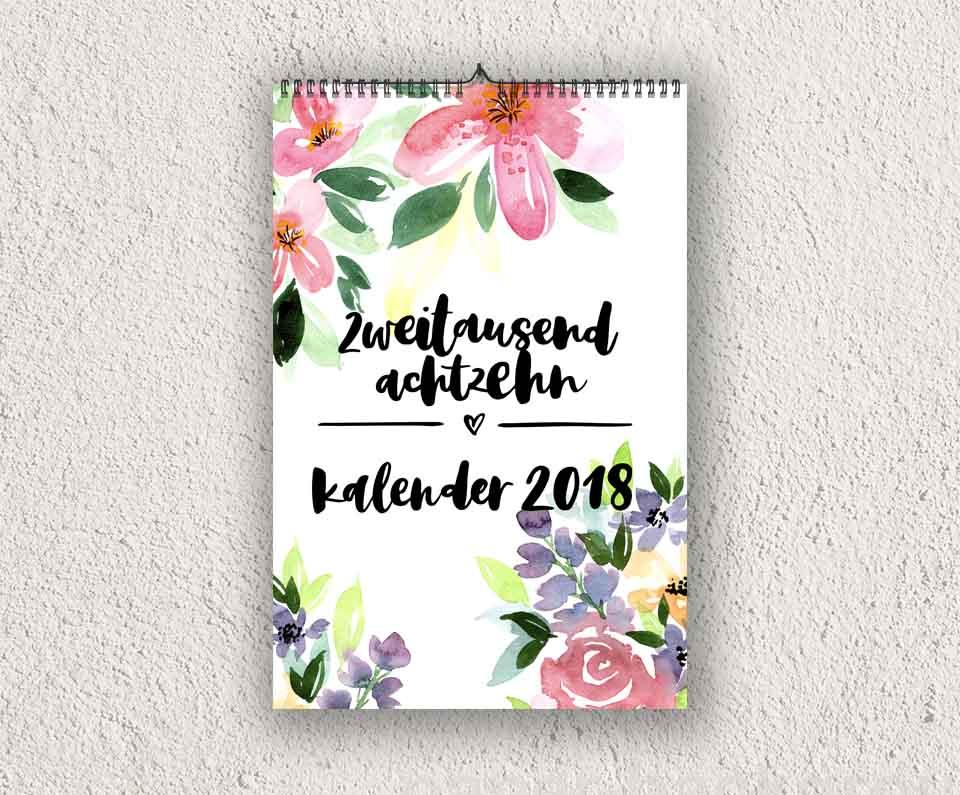 Mockup Kalender 2018
