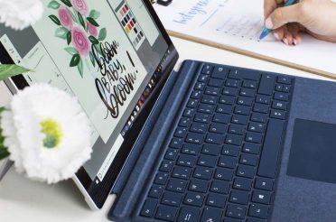 Illustration mit dem Microsoft Surface Pro