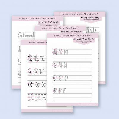 "Digitaler Lettering Guide ""Faux & Serif"""