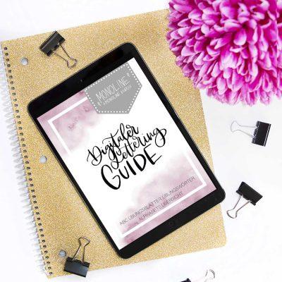 """Digitaler Lettering Guide """"Monoline"""""""