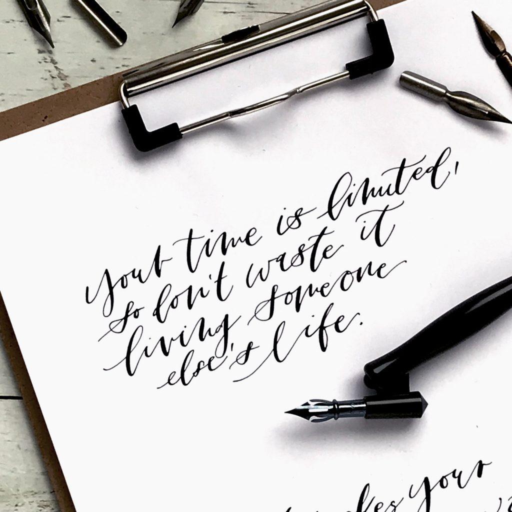 Kalligraphie Calligraphy Kalligrafie Federhalter Zeichenfeder Schriftfeder